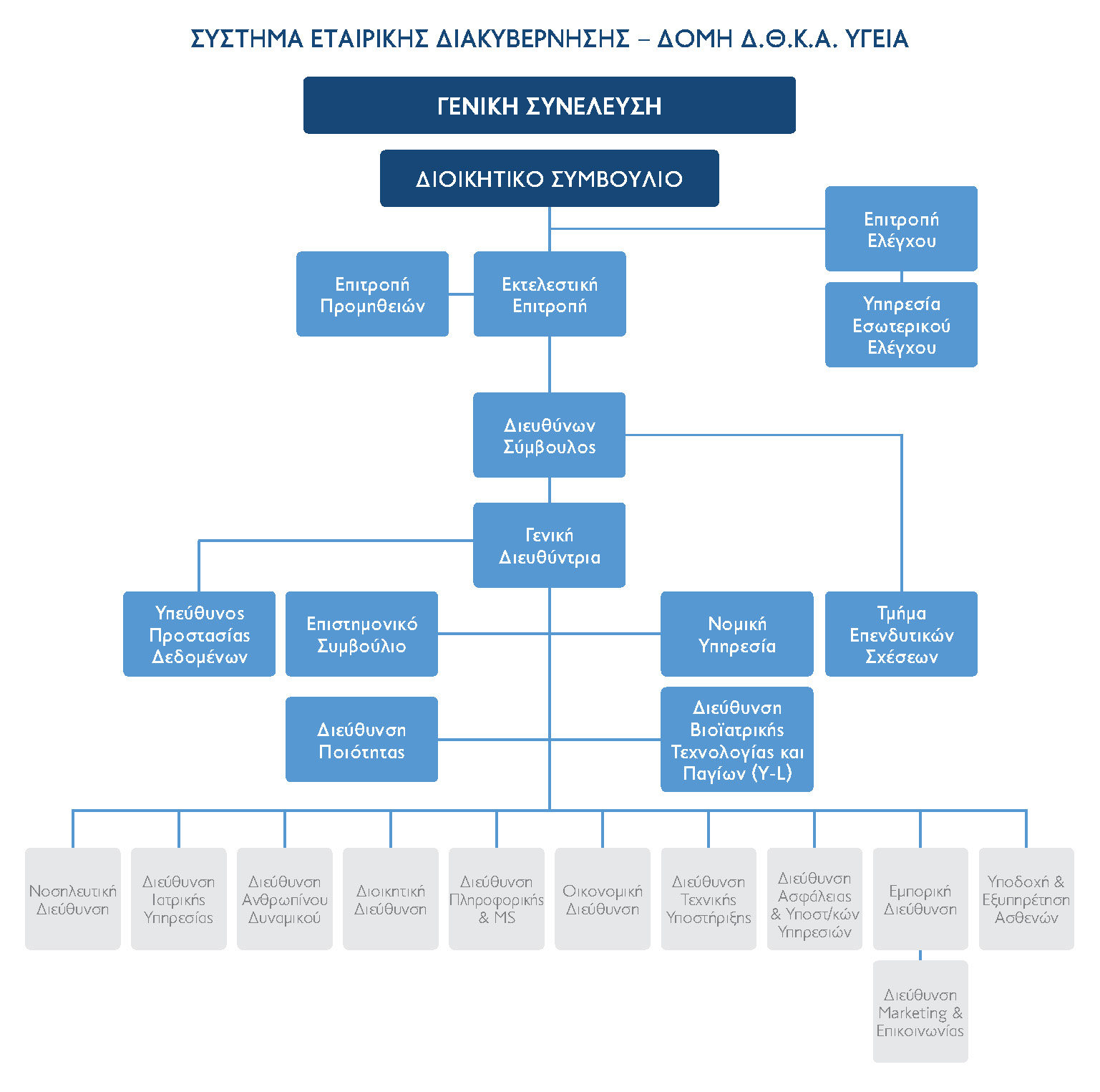 Kitchen Organizational Chart And Their Responsibilities: DTCA Hygeia Organizational Structure