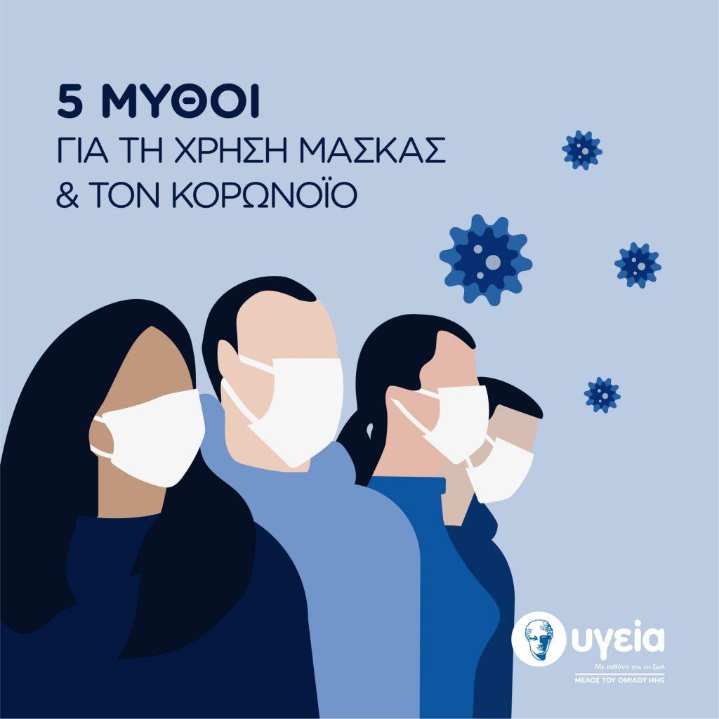 5 μύθοι για τη χρήση μάσκας και τον κορωνοϊό